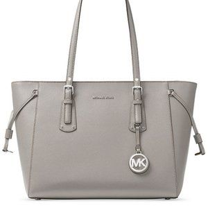 Michael Kors Pearl Grey Saffiano Leather Tote Bag